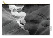 Slot Canyon Black And White Carry-all Pouch