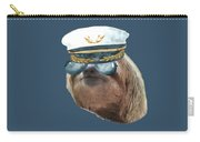 Sloth Aviator Glasses Captain Hat Sloths In Clothes Carry-all Pouch