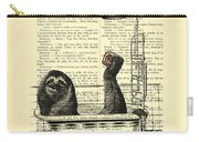 Sloth, Funny Children's Art, Bathroom Decor Carry-all Pouch