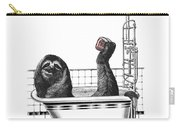 Sloth In Bathtub Taking A Shower Carry-all Pouch