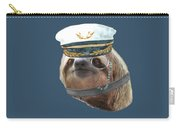 Sloth Monacle Captain Hat Sloths In Clothes Carry-all Pouch