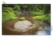 Slow River In Deep Forest Landscape Carry-all Pouch