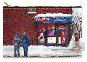Small Format Paintings For Sale Poutine Lafleur Montreal Petits Formats A Vendre Cspandau Artist  Carry-all Pouch