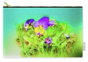 Small Group Of Violets Carry-all Pouch
