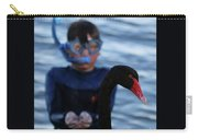 Small Human Meets Black Swan Carry-all Pouch