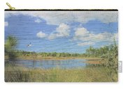 Small Pond With Weathered Wood Carry-all Pouch