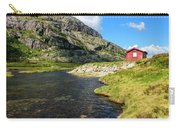Small Red Cabin In Norway Carry-all Pouch
