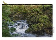 Small River Cascade Over Mossy Rocks In Northern Wales Carry-all Pouch