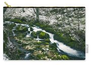 Small River In Forest In Winter Carry-all Pouch