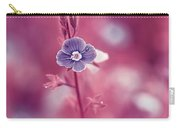 Small Romantic Violet Flower Carry-all Pouch