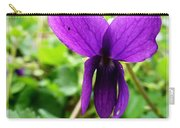 Small Violet Flower Carry-all Pouch