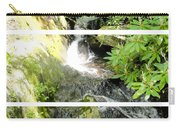 Small Waterfall Smoky Mountains Triptych Carry-all Pouch