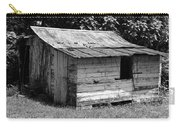 Small White Barn B W Carry-all Pouch