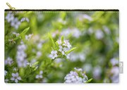 Small White Flowers Carry-all Pouch