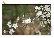 Small White Flowers Of Thorns Carry-all Pouch