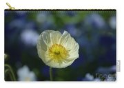 Small White Poppy Carry-all Pouch