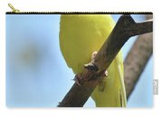 Small Yellow Budgie Parakeet In The Wild Carry-all Pouch