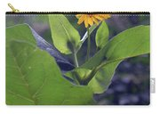 Small Yellow Flower And Green Big Leaves In The Sun Light. Carry-all Pouch