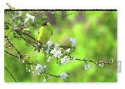 Smelling The Cherry Blossom Male  American Goldfinch Carry-all Pouch