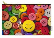 Smiley Face Button Carry-all Pouch by Garry Gay