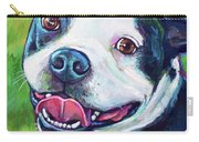 Smiling Boston Terrier Carry-all Pouch