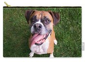 Smiling Boxer Dog Carry-all Pouch