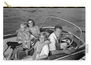 Smiling Family In Docked Boat, C.1960s Carry-all Pouch