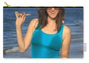Smiling Hottie At The Beach Carry-all Pouch