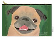 Smiling Senior Pug Carry-all Pouch