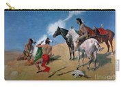 Smoke Signals Carry-all Pouch by Frederic Remington