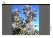 Smoke Tree In Bloom With Blue Purple Flowers Carry-all Pouch