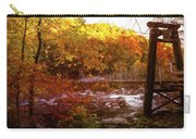 Smoky Mountain Suspension Bridge Oil Painting Carry-all Pouch
