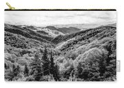 Smoky Mountains In Black And White Carry-all Pouch