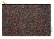 Smooth As Silk Carry-all Pouch by James W Johnson