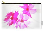 Smudged Floating Pink Flowers Carry-all Pouch