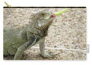 Snacking Iguana On A Concrete Walk Way Carry-all Pouch