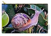 Snail On A Bush Version 2 Carry-all Pouch