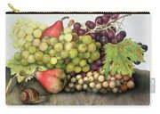 Snail With Grapes And Pears Carry-all Pouch