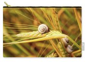 Snails On Wheat Carry-all Pouch