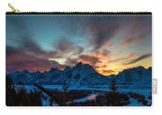 Snake River And Tetons At Sunset Carry-all Pouch