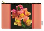 Snapdragon Flowers With Design Carry-all Pouch