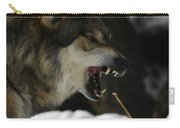 Snarling Wolf Carry-all Pouch