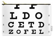 Snellen Chart - 9 Character Carry-all Pouch