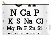 Snellen Chart - Chemical Abundance In Human Body Carry-all Pouch