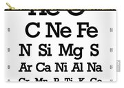 Snellen Chart - Chemical Abundance In Universe Carry-all Pouch