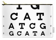 Snellen Chart - Genetic Sequence Carry-all Pouch