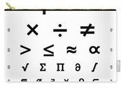 Snellen Chart - Mathematical Symbols Carry-all Pouch