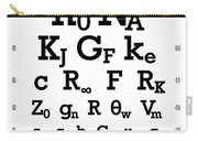 Snellen Chart - Physical Constants Carry-all Pouch