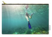 Snorkeling In Coral Reef Carry-all Pouch