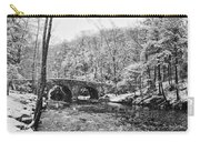 Snow Along The Wissahickon Creek Carry-all Pouch by Bill Cannon